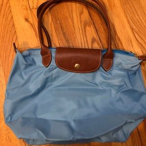 NWOT Longchamp tote: light blue
